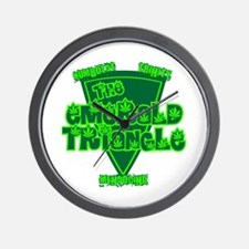 The Emerald Triangle Wall Clock