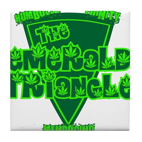 The Emerald Triangle Tile Coaster