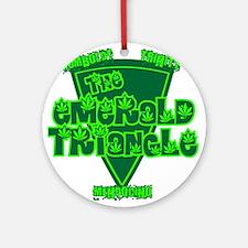 The Emerald Triangle Ornament (Round)