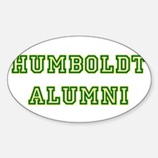Humboldt Block Alumni Oval Decal
