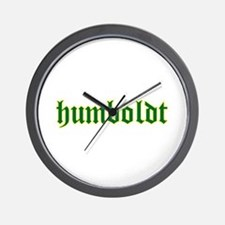 Humboldt Green Script Wall Clock