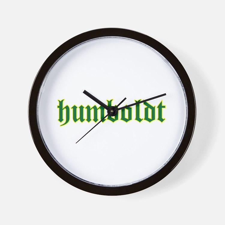 Humboldt Green Script Wall Clock