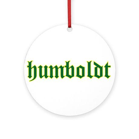 Humboldt Green Script Ornament (Round)