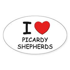 I love PICARDY SHEPHERDS Oval Decal