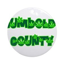 Humboldt County Pot Ornament (Round)
