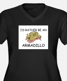I'd Rather Be An Armadillo Women's Plus Size V-Nec