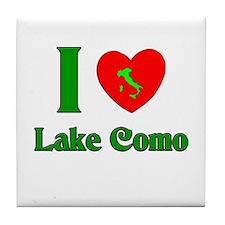 I Love Lake Como Tile Coaster