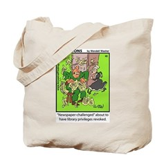 #45 Newspaper challenged Tote Bag