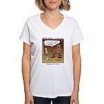 #55 Digging up Women's V-Neck T-Shirt