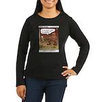 #55 Digging up Women's Long Sleeve Dark T-Shirt