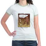 #55 Digging up Jr. Ringer T-Shirt