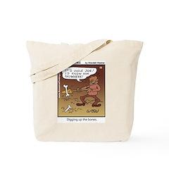 #55 Digging up Tote Bag