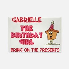 Happy Birthday Gabrielle Rectangle Magnet