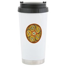 The Lughnasadh Spiral Design Travel Mug