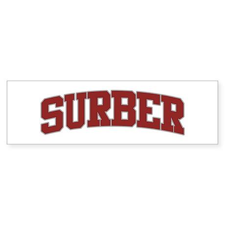 SURBER Design Bumper Sticker