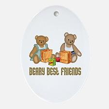 Best Friend Teddybear Oval Ornament