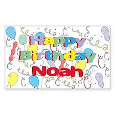 Happy Birthday Noah Rectangle Decal