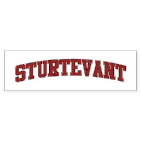 STURTEVANT Design Bumper Sticker