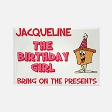 Happy Birthday Jacqueline Rectangle Magnet