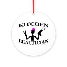 Kitchen Beautician Ornament (Round)