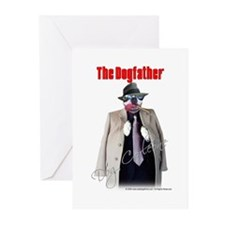 Dog Corleone- The Dogfather Greeting Cards (Pk of