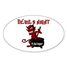 Detroit Devil's Night Oval Decal