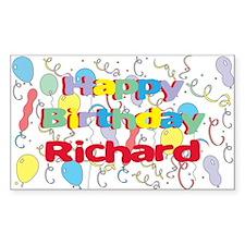 Happy Birthday Richard Rectangle Stickers