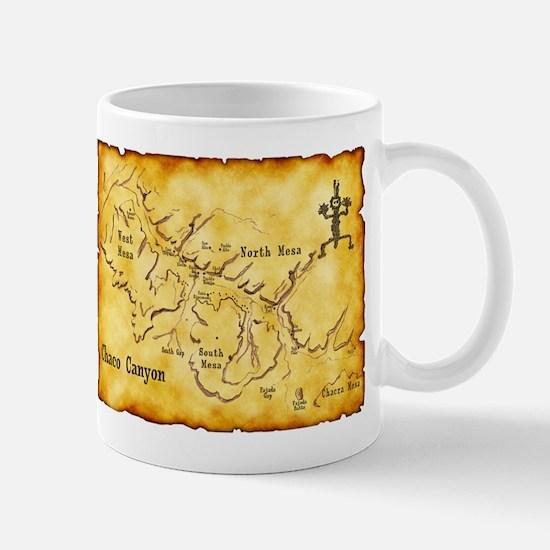 Chaco Canyon Map Mug