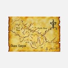 Chaco Canyon Map Rectangle Magnet