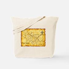 Chaco Canyon Map Tote Bag