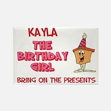 Happy Birthday Kayla Rectangle Magnet