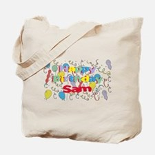 Happy Birthday Sam Tote Bag