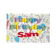 Happy Birthday Sam Rectangle Magnet