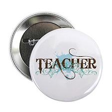 """Cool Blue TEACHER 2.25"""" Button"""