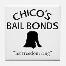 Chico's Bail Bonds Tile Coaster