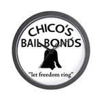 Chico's Bail Bonds Wall Clock