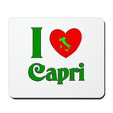 I Love Capri Mousepad