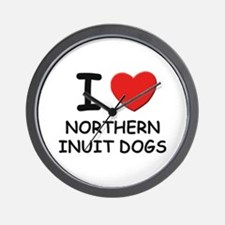 I love NORTHERN INUIT DOGS Wall Clock