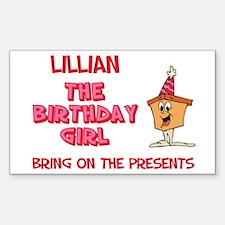 Happy Birthday Lillian Rectangle Decal