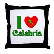 I Love Calabria Throw Pillow