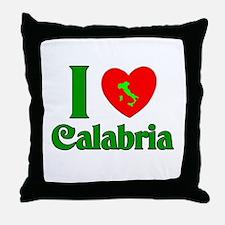 I Love Calabria Throw Pillow