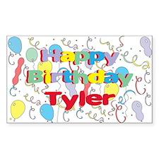 Happy Birthday Tyler Rectangle Decal