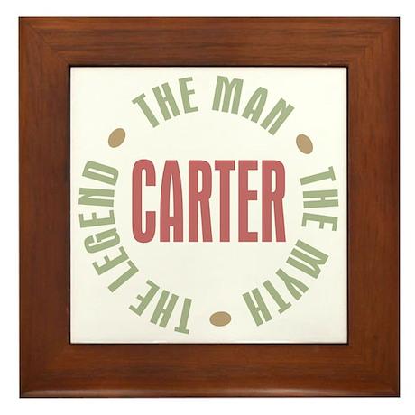 Carter Man Myth Legend Framed Tile