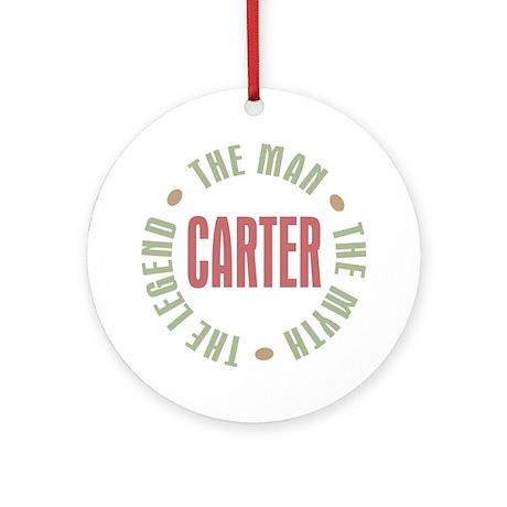 Carter Man Myth Legend Ornament (Round)