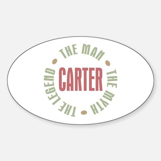 Carter Man Myth Legend Oval Decal