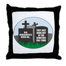 Never Die Throw Pillow