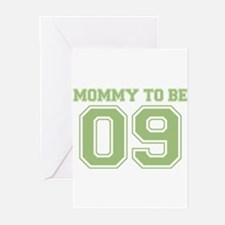 Mommy To Be 09 (Green) Greeting Cards (Pk of 10)