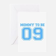 Mommy To Be 09 (Blue) Greeting Cards (Pk of 10)