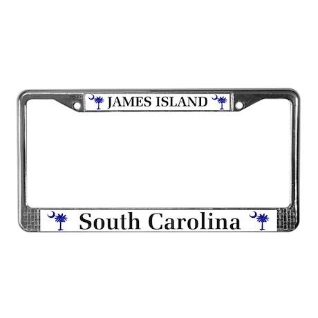 James Island License Plate Frame