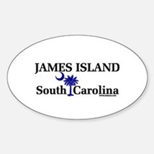 James Island Oval Decal
